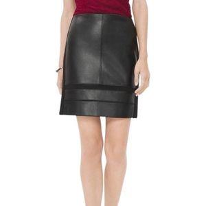 NWT White House Black Market Leather Mini Skirt